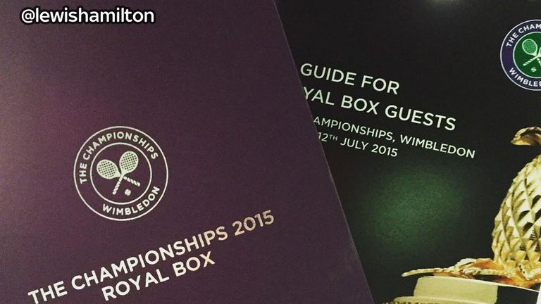 Lewis Hamilton posted a picture of his Royal box invite on Instagram