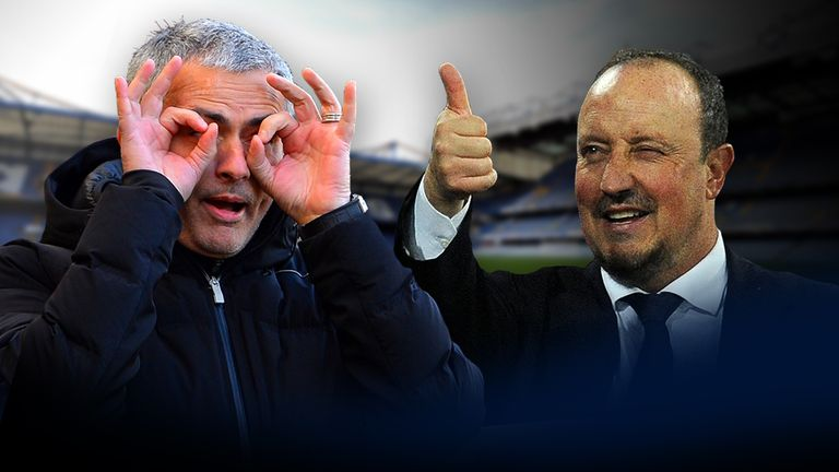 Jose Mourinho (left) and Rafa Benitez's war of words dates back to 2005