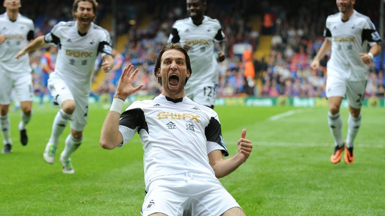 Michu scored 22 goals in his first season at Swansea