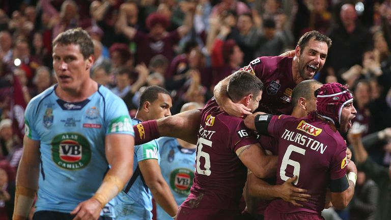 Blue murder: New South Wales suffered a 46-point humiliation in game three of State of Origin