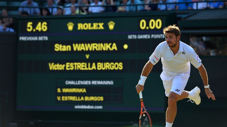 Stan Wawrinka plays Richard Gasquet in the Wimbledon quarter-finals on Wednesday