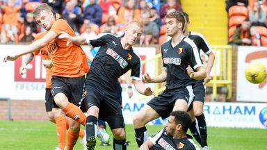 Action from Dundee United's match against Watford