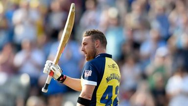 Brendon McCullum: Record-breaking knock for Birmingham Bears in the Natwest T20 Blast
