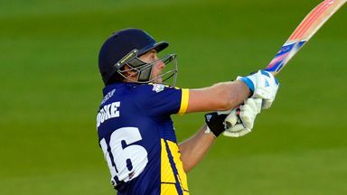 Glamorgan batsman Chris Cooke smashed an unbeaten 94 off 54 balls