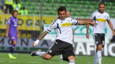 Adrian Mutu in action for AC Cesena