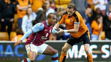 Gabby Agbonlahor was left injured following a tackle from Richard Stearman