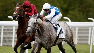 Solow wins the 2015 Sussex Stakes from Arod.
