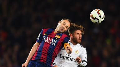 Andres Iniesta (L) says he doesn