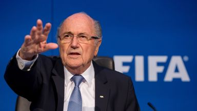 Sepp Blatter speaks during a press conference at the Extraordinary FIFA Executive Committee Meeting