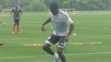 Shaun Wright-Phillips trains with the New York Red Bulls