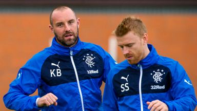 Steven Smith (right) has been reunited with former Rangers team-mate Kris Boyd (left) at Kilmarnock