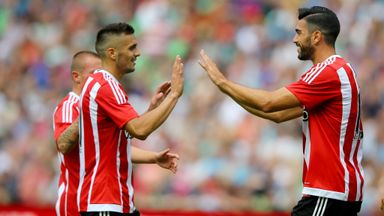 Dusan Tadic (L) starred for Southampton while Graziano Pelle (R) got on the scoresheet
