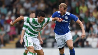 Tom Rogic (left) back in action for Celtic against Den Bosch.