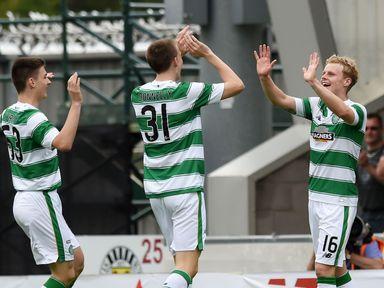 Celtic and Gary Mackay-Steven (right) celebrate