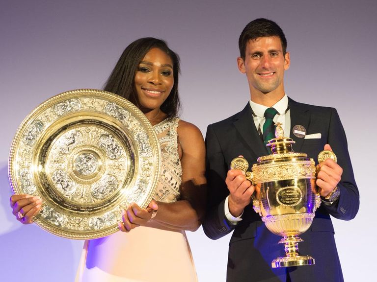 Serena Williams and Novak Djokovic, 2015 Wimbledon champions
