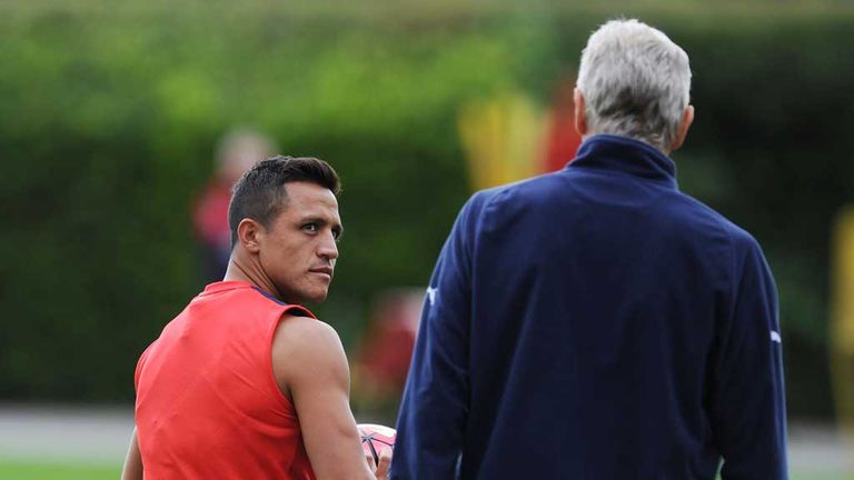 Alexis Sanchez (left) should be back in contention for Arsenal this weekend