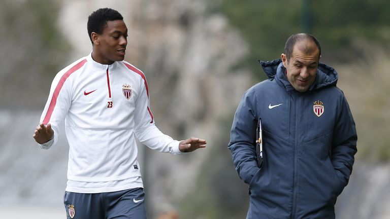 Martial improved under Monaco coach Leonardo Jardim last season