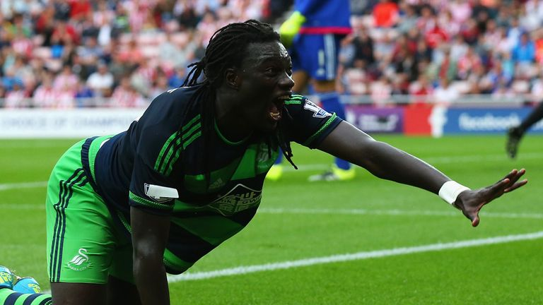 Bafetimbi Gomis scored 17 goals in 71 appearances for Swansea
