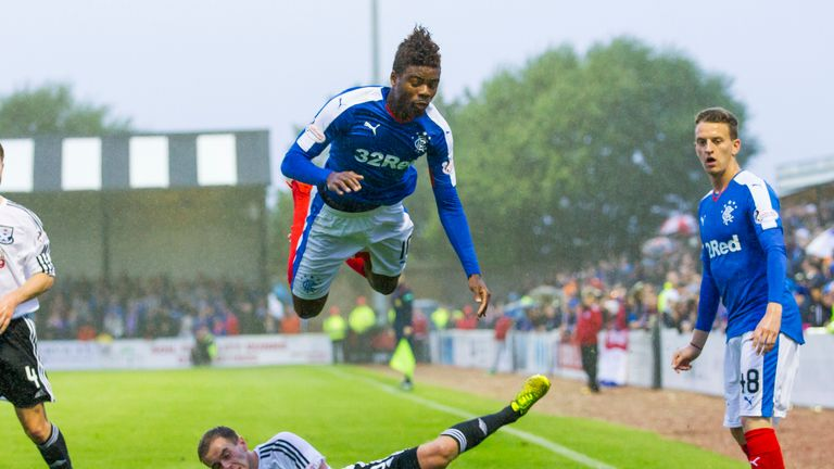 Nathan Oduwa was on loan at Rangers earlier this season