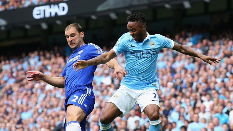 Branislav Ivanovic struggled to deal with Manchester City's threat down Chelsea's right side
