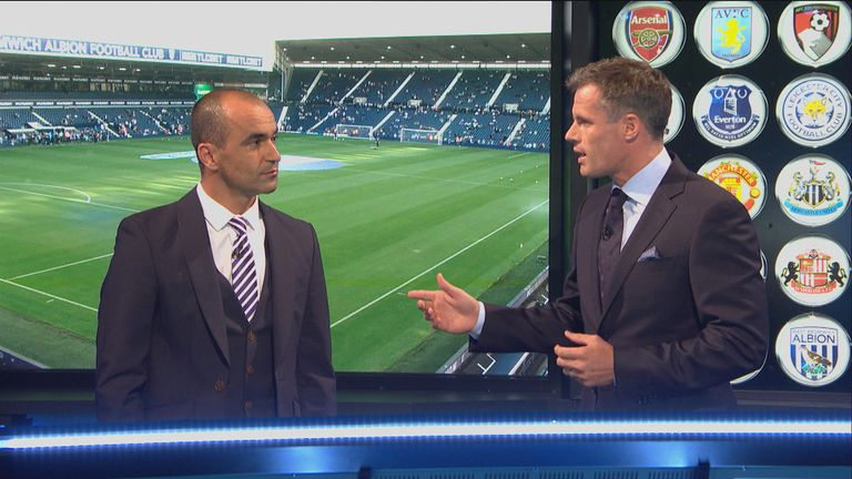 Roberto Martinez and Jamie Carragher discuss Ross Barkley's development on Monday Night Football
