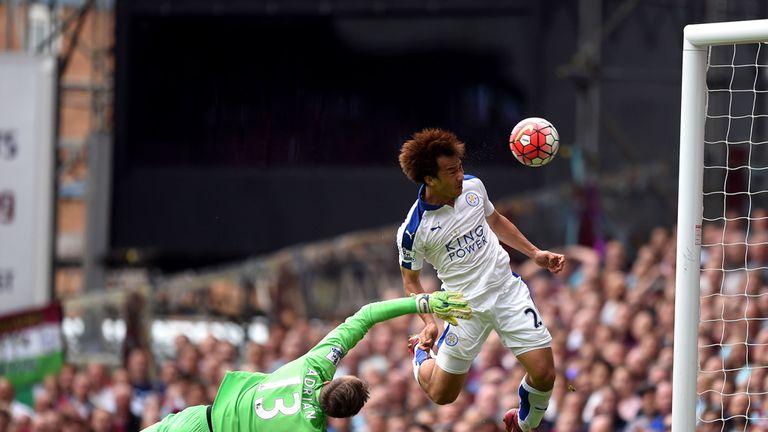 Shinji Okazaki put Leicester in front against West Ham