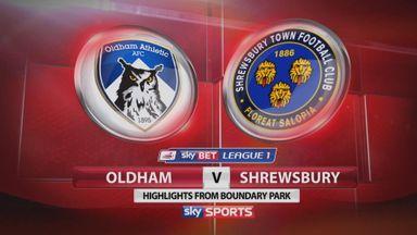 Oldham 1-1 Shrewsbury