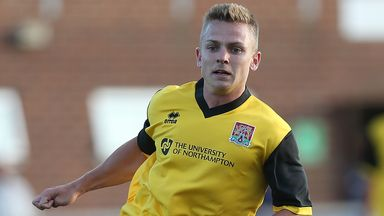 Sam Hoskins: Has earned a one-year deal at Northampton