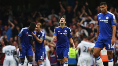 Chelsea players' reaction after Joel Ward's winner for Crystal Palace on Saturday