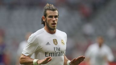 Gareth Bale celebrates his goal against former club Tottenham