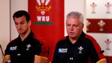 Captain Sam Warburton (left) and Wales head coach  Warren Gatland at the squad announcment