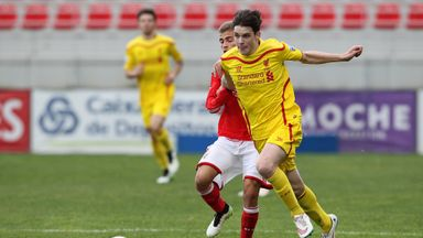 Harry Wilson in action during a UEFA Youth League clash with Benfica