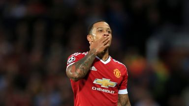 Memphis Depay has scored five goals in 21 appearances for Manchester United so far this season