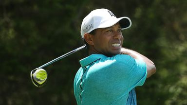 Tiger Woods' expression says it all - another fairway missed with the driver