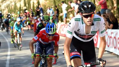 Esteban Chaves (left) and Tom Dumoulin (right) have been two of the stars of the opening week of the Vuelta a Espana