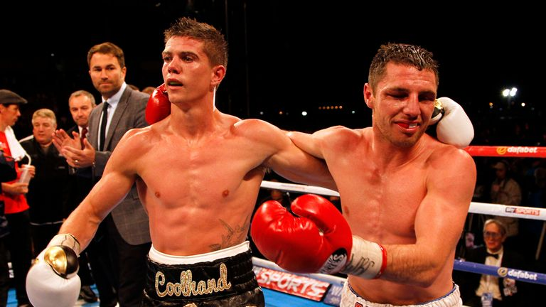 Luke Campbell (left ) and Tommy Coyle after there Vacant WBC International Lightweight title and WBC Eliminator contest at The KC Lighstream Stadium, Hull.