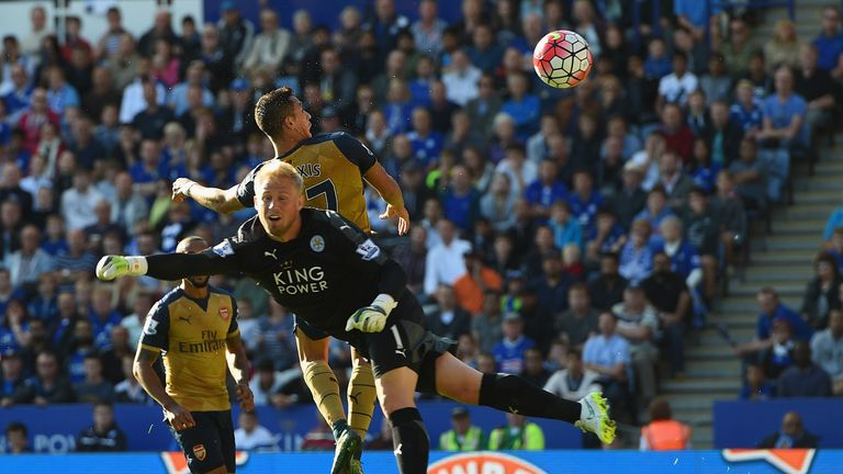Arsenal beat Leicester 5-2 at the King Power Stadium in September