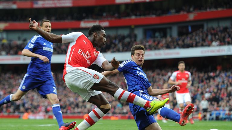 Danny Welbeck suffered a knee injury against Chelsea in April
