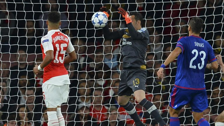 David Ospina came under scrutiny after his mistake against Olympiakos