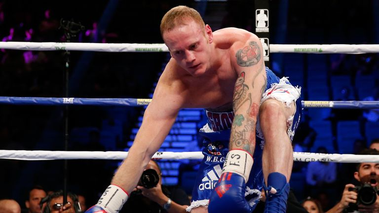 George Groves was knocked down in the first round against Badou Jack