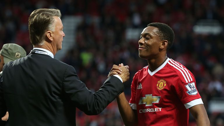 Anthony Martial could lead the line again for United