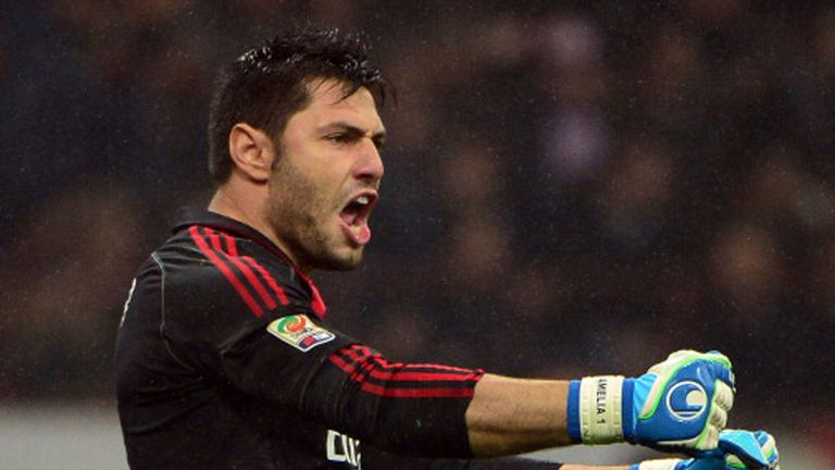 Marco Amelia was released by AC Milan in 2014