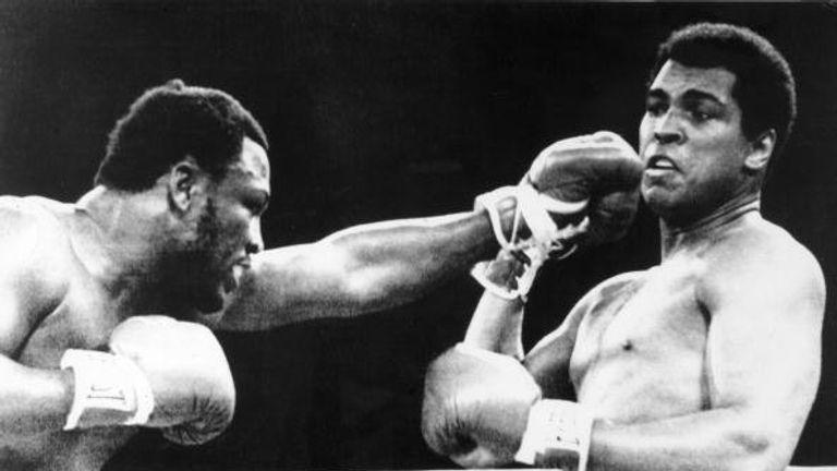 Ali fought Joe Frazier in the Thriller in Manila in 1975