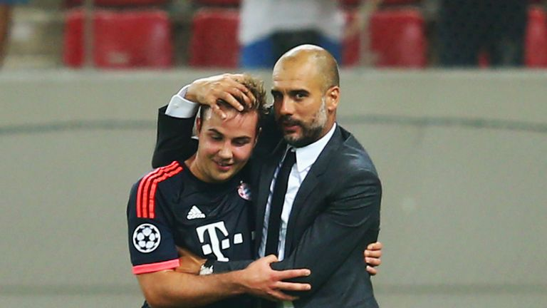 Guardiola managed Gotze at Bayern Munich