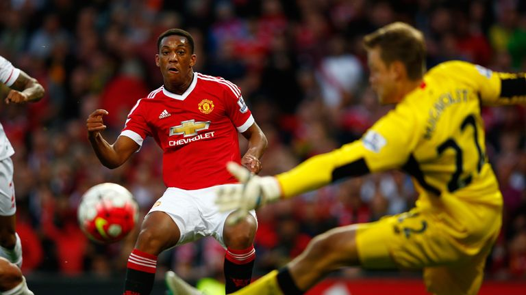 Anthony Martial has scored four goals in three games since arriving at Manchester United