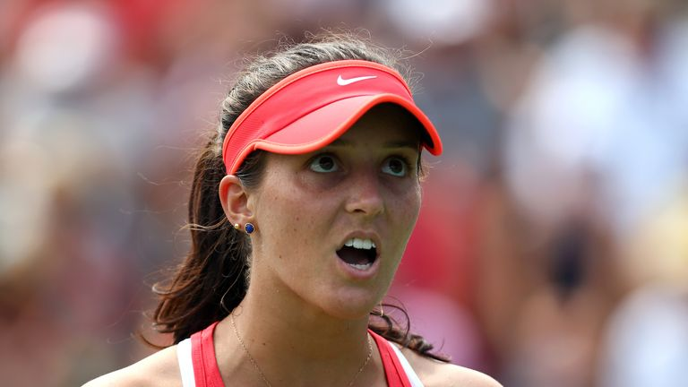 Laura Robson went down in three sets against Elena Vesnina