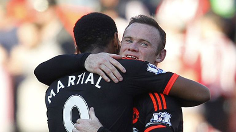 Wayne Rooney and Anthony Martial have struggled to find the back of the net on a regular basis this season