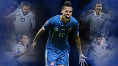 (Clockwise from left): Sigurdsson, Hamsik, Cana, Christofi and Damari are all dreaming of reaching the Euros