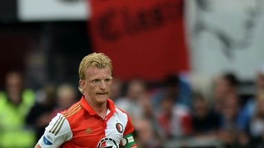 Dirk Kuyt was on target in the Rotterdam derby for Feyenoord