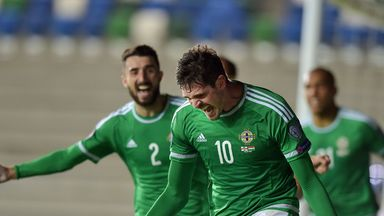 Kyle Lafferty has had plenty to celebrate for Northern Ireland this year but has barely played for Norwich